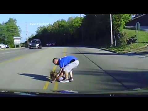 Dashcam Captures Firefighter Rescuing Child Who Fell From Moving Bus