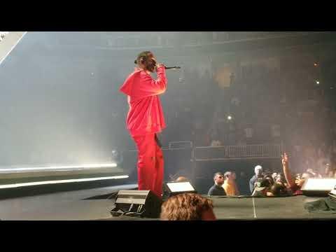 Kendrick Lamar performs GOD. live @ The DAMN. Tour live @ SAP Center, San Jose, CA.