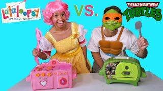 LaLaLoopsy Oven Vs. Ninja Turtles Oven Cake Challenge ! || Toy Review || Konas2002