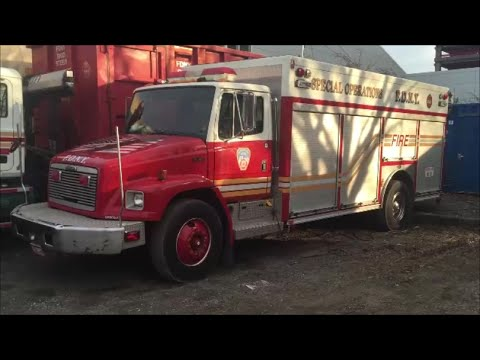 FDNY Special Operations & Command Utility Support Truck At SOC On Randalls Island In New York City