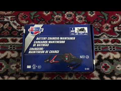 Carquest Cq10cr Battery Charger Maintainer Youtube