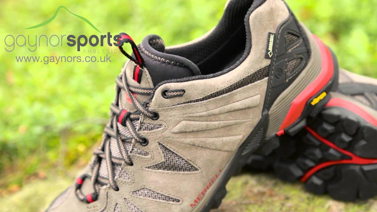 Merrell Capra Gore-Tex Women's Walking Shoes Grey Black COMUK:6943