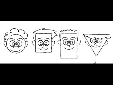 how-to-draw-cartoon-faces-using-geometrical-shapes---easy-drawing