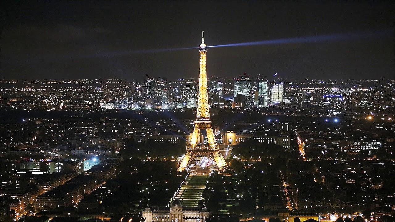Eiffel Tower Paris Night Tour 4k Youtube