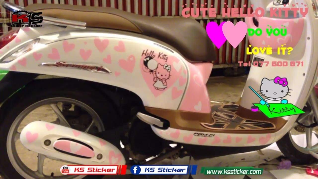 89 Modifikasi Scoopy Hello Kitty Kumpulan Modifikasi Motor
