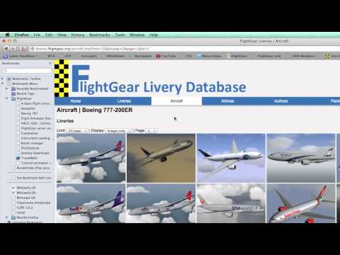 HOW TO PLAY FLIGHTGEAR #3 Livery Download - YouTube