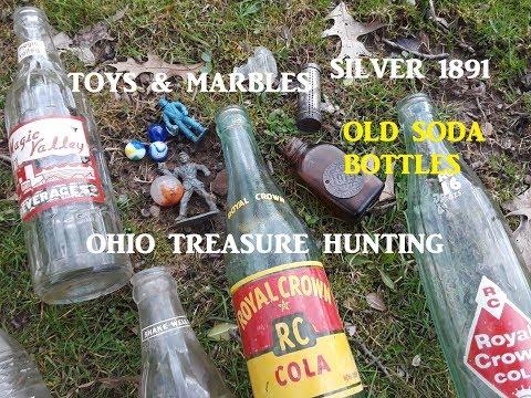 Ohio Treasure Hunting DIGGING OLD DUMP Silver & MORE!!!!!!