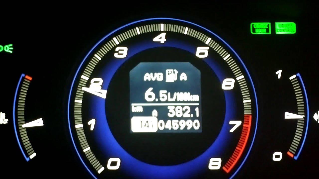 Honda Civic typeS 18 ivtec fuel consumption  YouTube