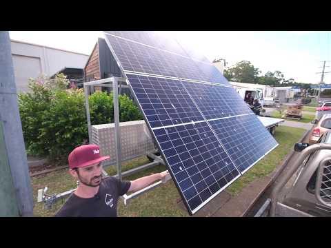 2000 watt off grid solar trailer with 8kw of lithium batteries!