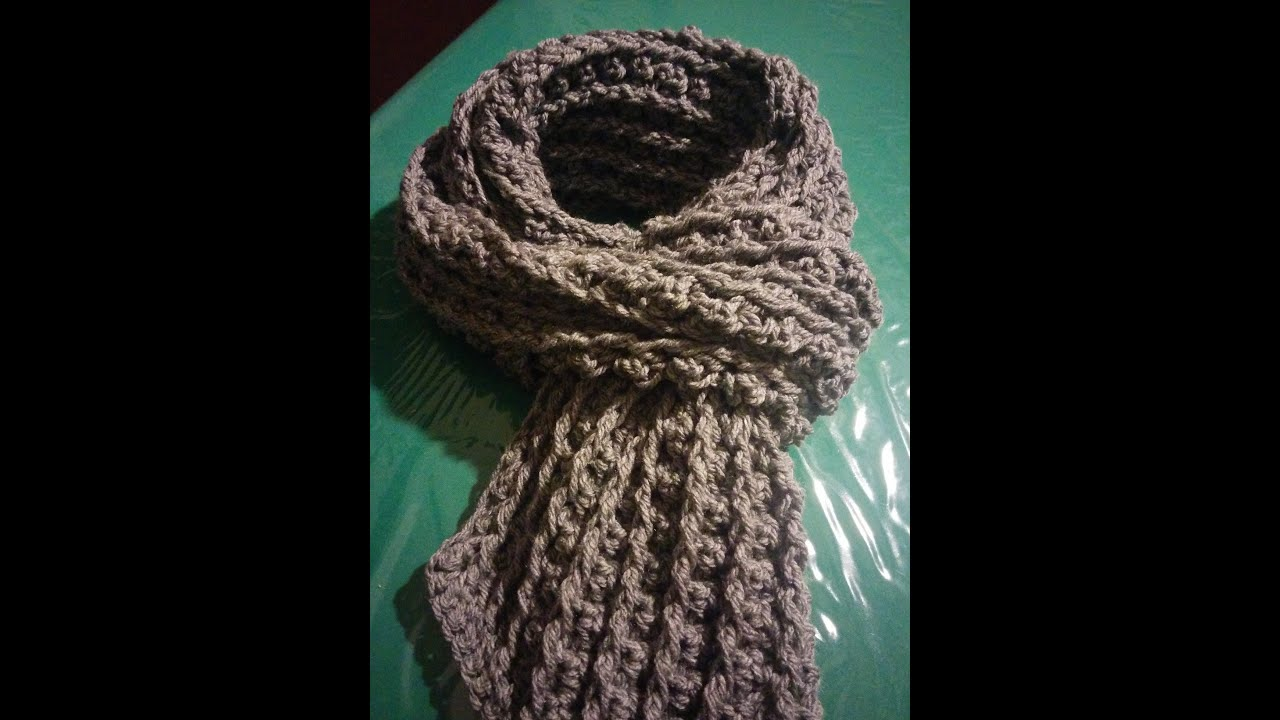 Sciarpa uomo alluncinetto - Crochet scarf for man - ViYoutube
