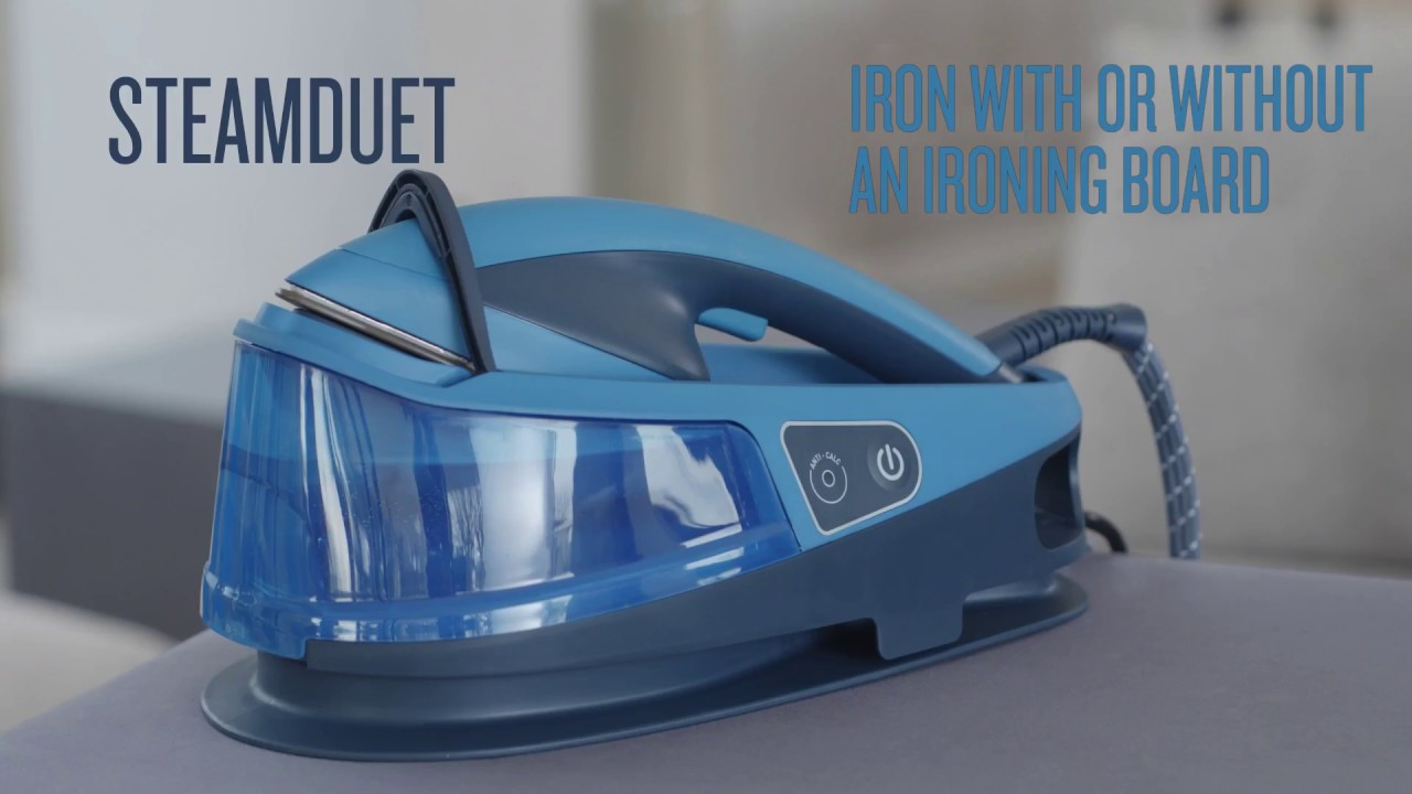 tefal steam duet how to iron with or without ironing board youtube. Black Bedroom Furniture Sets. Home Design Ideas