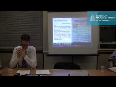 London Seminar in Digital Text and Scholarship: 'Protocols for Encoding Shakespeare'