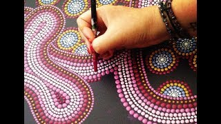 How to make dots, mix paint and prepare brushes for the perfect dot painting.