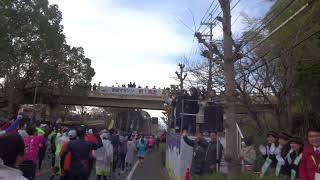 奈良マラソン2018スタートの様子。 有森さん、安田大サーカス団長さ...
