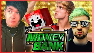 DanTDM, JackSepticEye, Logan Paul, ExplodingTNT, ??? & ??? | Money in the Bank | WWE 2K17