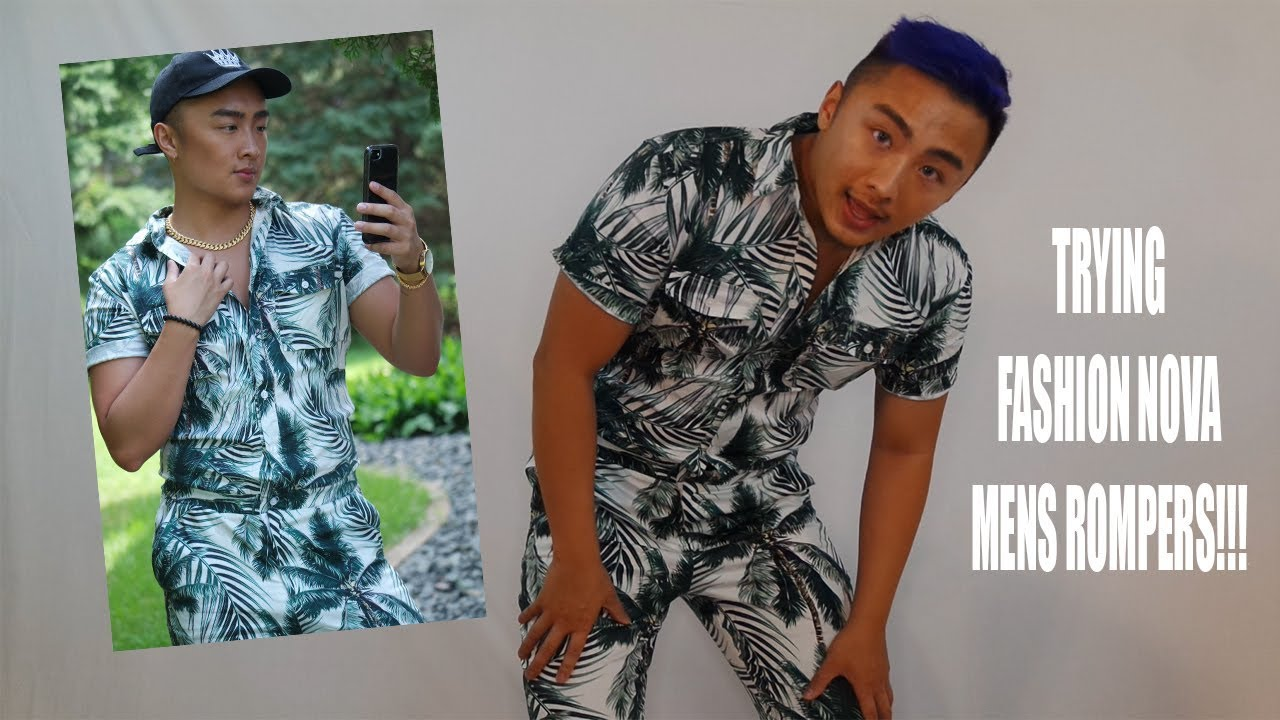 47c8c12e7d8 BUY or BYE Trying Mens Rompers FASHIONNOVA Review - YouTube