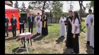 Nick, templomszentelés, kemencés kiállítóhely, Aigner Géza plébános beszéde