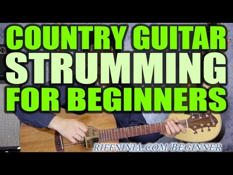 Beginner Acoustic Guitar Strumming - Country Style Strumming