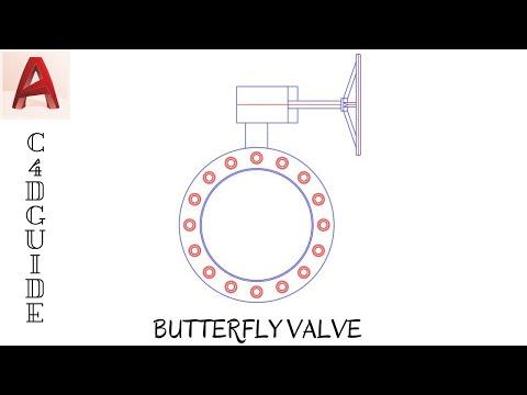 TUTORIAL AUTOCAD - LATIHAN MEMBUAT SYMBOL BUTTERFLY VALVE