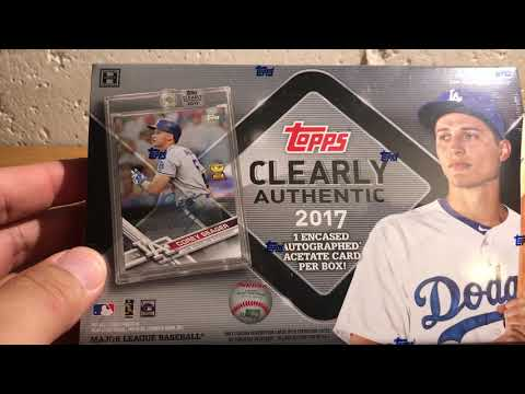 ASMR Whisper: Opening 2017 Topps Clearly Authentic Baseball box