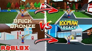 Loomian Legacy Vs. Pokemon Brick Bronze (Roblox) - Comparing Mitis Town