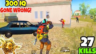Using 300 IQ Can Be a HUGE Mistake Sometimes in PUBG Mobile • (27 KILLS) • PUBGM (HINDI)
