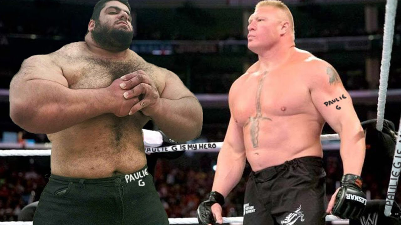 UFC 257: Brock Lesnar versus the Iranian Hulk!!!! the WWE MEGAFIGHT!!!