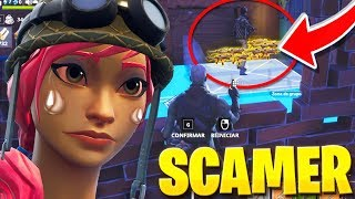 SCAMEO TO 13-YEAR-OLD SCAMMER CHILD IN FORTNITE 'LLORA' Fortnite Save The World