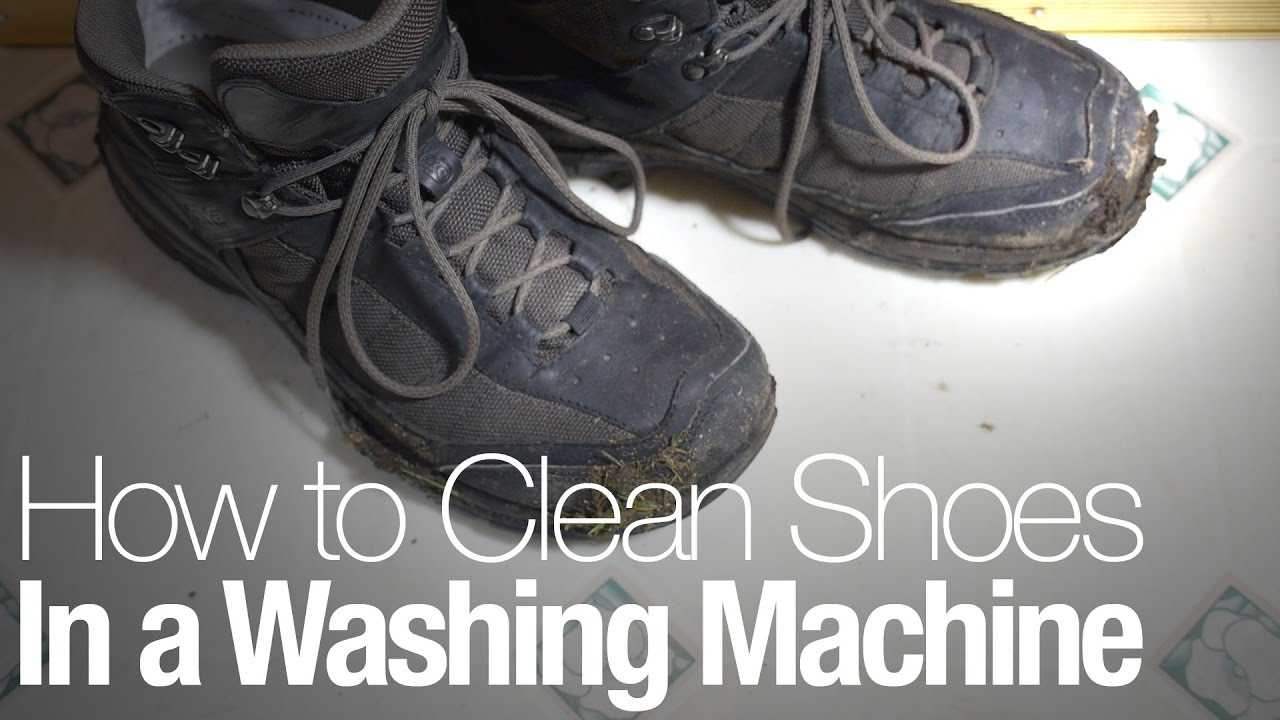 1b1c2fae94121 How to clean shoes in a washing machine (without ruining them) - YouTube