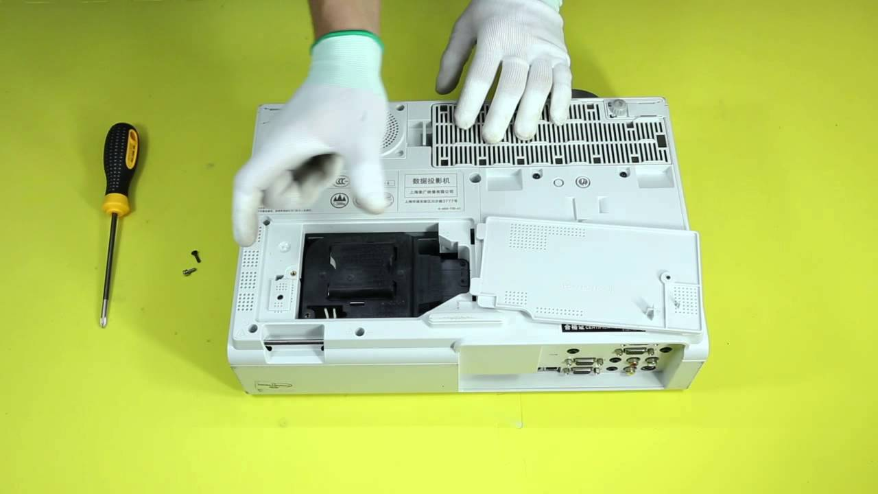 How to replace the projector lamp for SONY VPL EX246 - YouTube