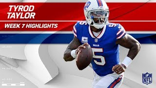 Tyrod Taylor Highlights | Buccaneers vs. Bills | Wk 7 Player Highlights