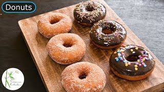 Eggless Donuts Recipe | Step by Step Process to Make Fluffy Donuts ~ The Terrace Kitchen