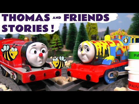 Thomas & Friends Toy Trains Stories with Accidents and Crashes - Batman and Avengers Toys TT4U