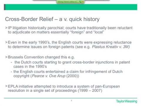 Cross-Border Relief in Patent Cases