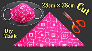 Very Easy Beautiful New Style Breathable Mask DIY Cloth Face Mask Face Mask Sewing Tutorial