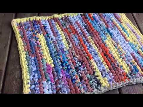 No Sew Rag Rug Tutorial Easy Crochet