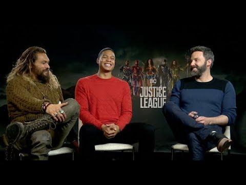 JUSTICE LEAGUE interviews - Gal Gadot, Ben Affleck, Henry Cavill, Ezra Miller, Momoa, Fisher en streaming