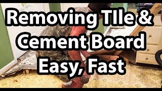 How to Remove Tile and Cement Backer Board The Easy Way, Fast and Cheap!