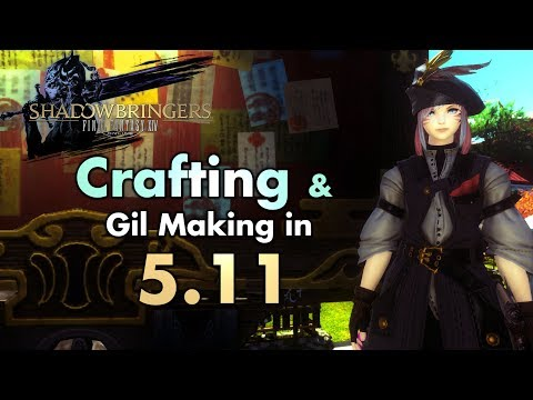 FFXIV - Crafting & Gil-making In 5.11 (Macros And Other Tips)