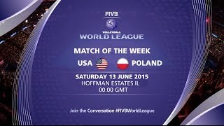 Live Stream - USA vs Poland - FIVB Volleyball World League 2015