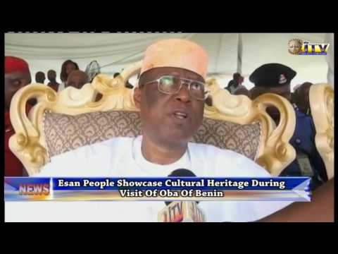 Esan People Showcase Cultural Heritage During Visit Of Oba Of Benin