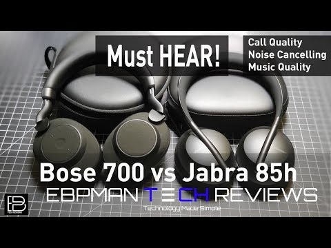 Bose 700 ANC Headphones vs Jabra Elite 85h | Call Quality | ANC Test | Audio Test