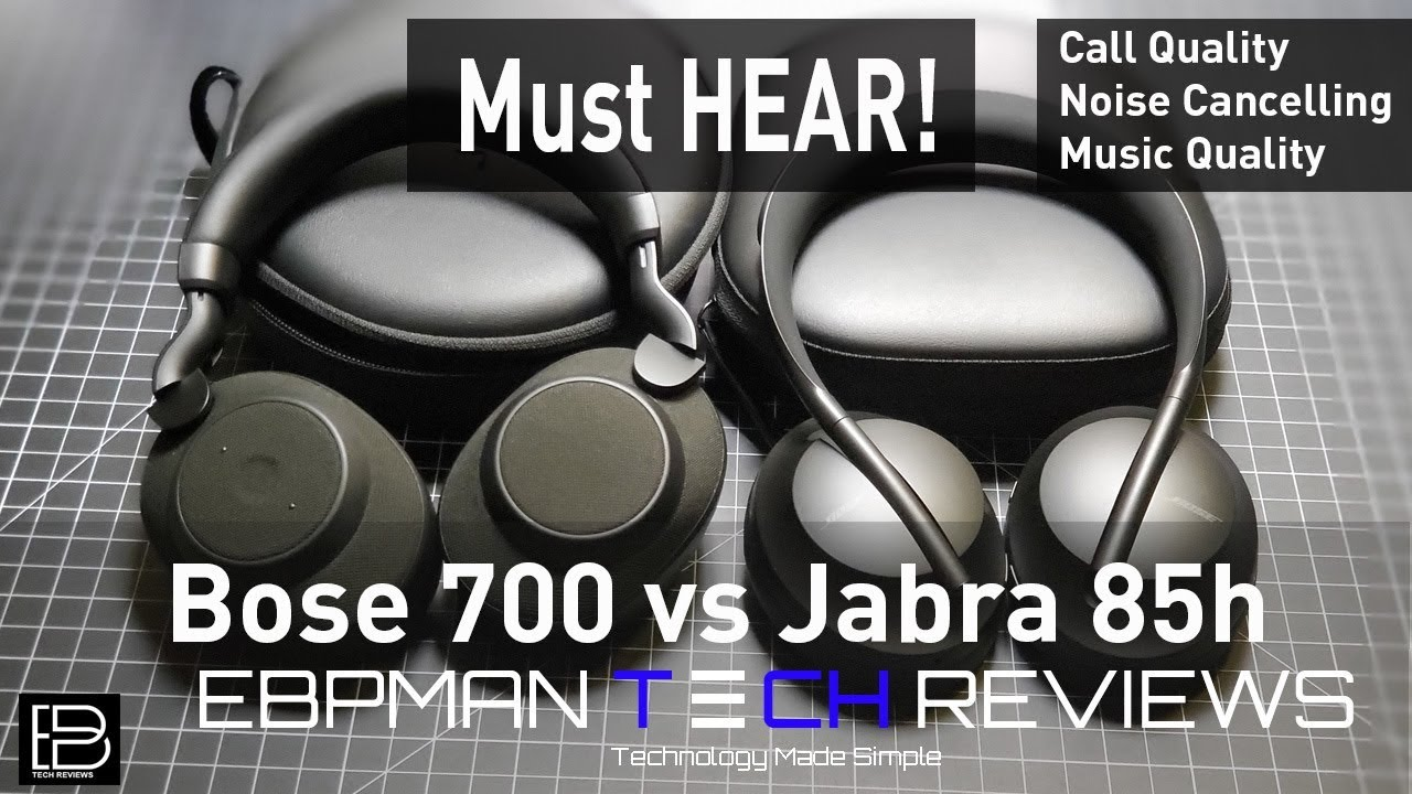 Bose 700 Anc Headphones Vs Jabra Elite 85h Call Quality Anc Test Audio Test Youtube