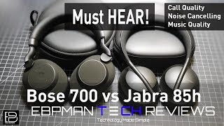 Bose 700 ANC Headphones vs Jabra Elite 85h   Call Quality   ANC Test   Audio Test