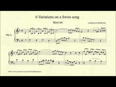 Beethoven, 6 Variations On A Swiss Song, WoO 64, Var. I
