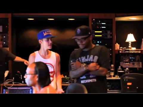 Justin Bieber &Boyz 2 Men In The Studio FALALA