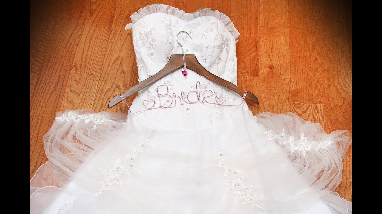 DIY Customized Wedding Hanger - YouTube