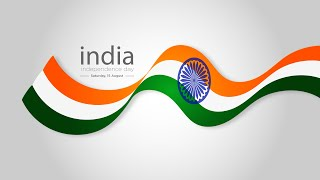India flag design for independence day | Illustrator cc