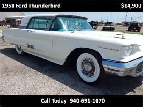 1958 ford thunderbird used cars wichita falls tx youtube. Black Bedroom Furniture Sets. Home Design Ideas