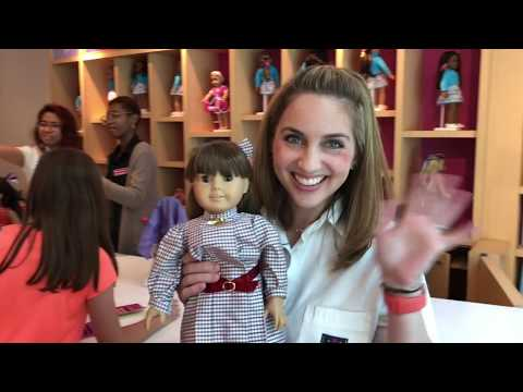Original Pleasant Company Doll Samantha Goes To The American Girl Doll Hair Salon
